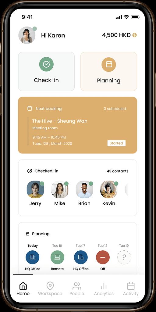 FLYDESK App - Home