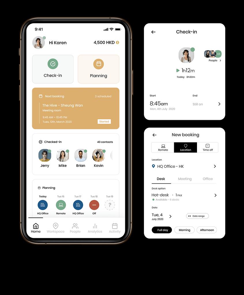 FLYDESK App - Overview 3 black